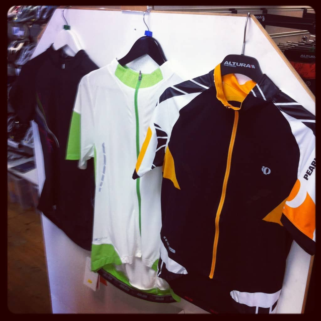 Pearl Izumi Clothing in our Bournemouth Store
