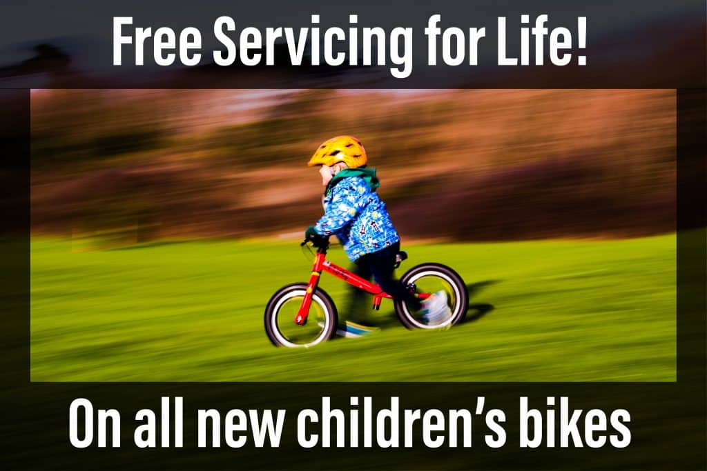 Free servicing for life on all new kids bikes