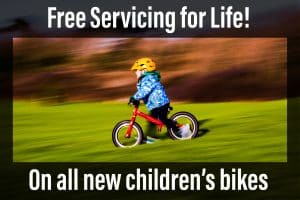 Childrens bikes with free servicing for life